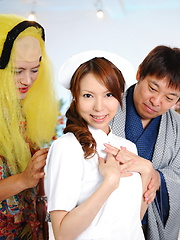 Wild Rino Asuka provokes on tv with uniform