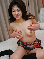 Lusty hot Yu Yamashita enjoys in group sex