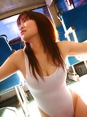 Young Japanese Yayoi Yoshino gets handcuffed