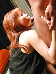 Misa Kikouden Asian with tie gets shlongs in mouth and in pussy