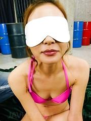 Mio Kuraki Asian is aroused big time with vibrators and gets cum