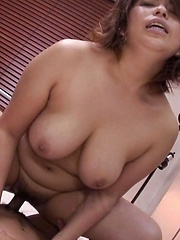 Yukari Asian dame gets cock between big cans and is fucked a lot