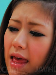 Rin Saotome Asian sucks boner and is licked between shaved labia