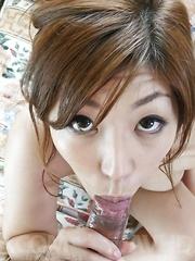 Naho Hadsuki Asian takes penis between big boobs and skilled feet