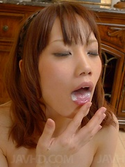 Ageha Kinashita Asian with nipples in clamps sucks dick so well