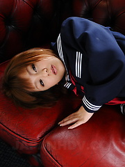 Super cute Asian gal Rui Natsukawa shows off