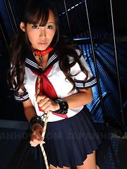 Bound and gagged Japanese teen gal Nagisa