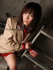 Beautiful Asian bondage darling Arisa Suzuki
