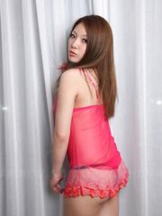 Hottie Manami Ichikawa showing off with joy