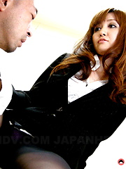 Hot police officer Yui Igawa in a threesome