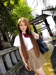 Wonderful teen darling Ria Sakurai shows off