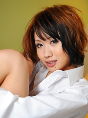 Sexy Asian darling Luna showing off with joy