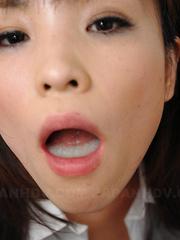 Hot slut Arisa Suzuki blows three peckers