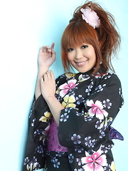 Slutty chick Yuno Hoshi  shows off her body