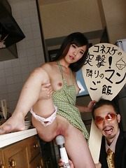Hot Shiho Miyasaki gets teased with sex toys