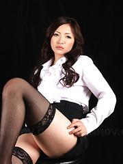 Super hot teacher Mayumi Takara shows off