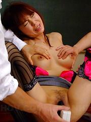Slutty gal Kyoushi Kan gets a nasty creampie