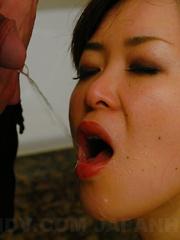 Hot darling Sayaka Takase in a pissing scene