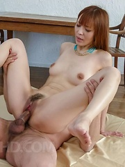 Saori is licked on vagina while she takes boners in good blowjob