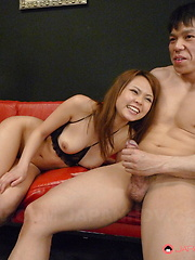 Slutty Japanese queen Saki gets gangbanged