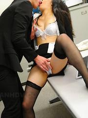 Slutty babe Ai Mizushima gets banged hard